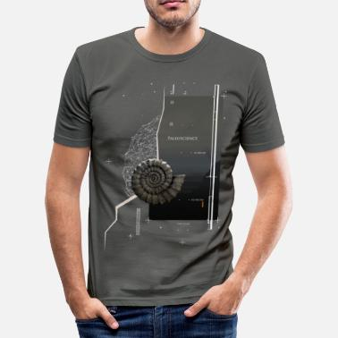 Fossil Ammonite - Männer Slim Fit T-Shirt