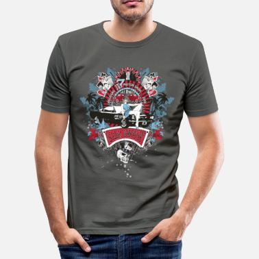 Vintage Pin Up Girl - Car Show No.02 - Männer Slim Fit T-Shirt