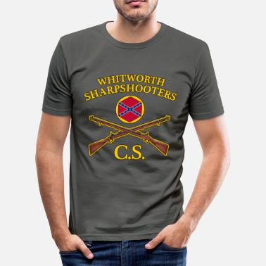 Sharpshooter confederate army - Men's Slim Fit T-Shirt