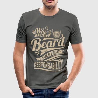 With great beard - Männer Slim Fit T-Shirt