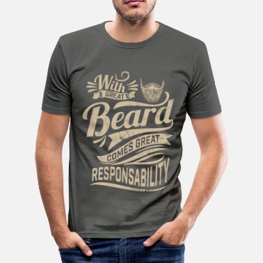 Bart With great beard - Männer Slim Fit T-Shirt