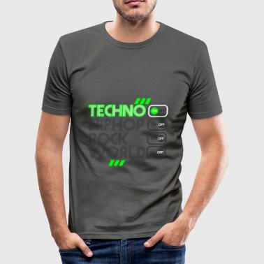Techno Music TECHNO MUSIC - Männer Slim Fit T-Shirt
