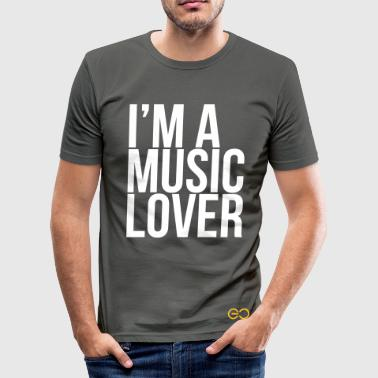 Music Lover big  - Men's Slim Fit T-Shirt