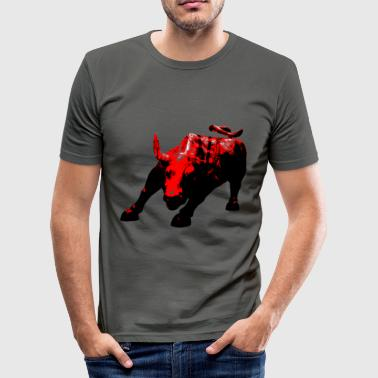 bulle_wall_street_ii - Männer Slim Fit T-Shirt