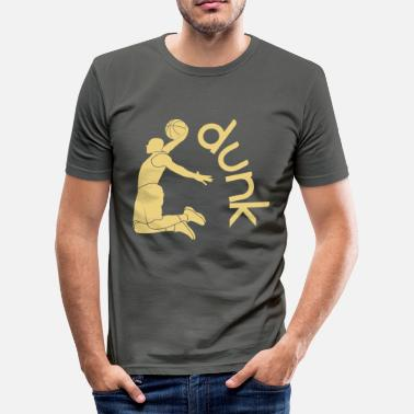 Dunking DUNK - Men's Slim Fit T-Shirt