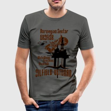 Ekofisk Oil Rig Platform North Sea Norway - Men's Slim Fit T-Shirt