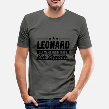 Leonard Man Myth Legend Leonard - Slim Fit T-shirt herr