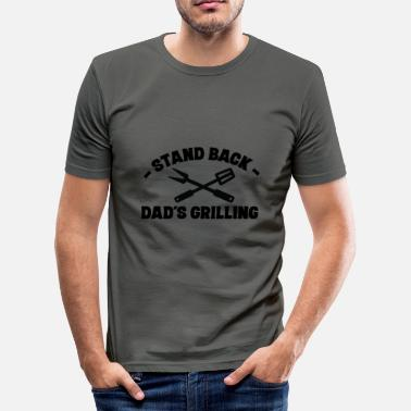 Grillsaison Far pappa Grill Grilling Back Stay Master - Slim fit T-skjorte for menn