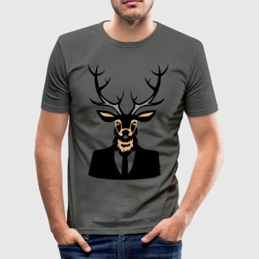 deer head - Männer Slim Fit T-Shirt