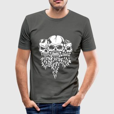 mustache beard skull glasses - Men's Slim Fit T-Shirt