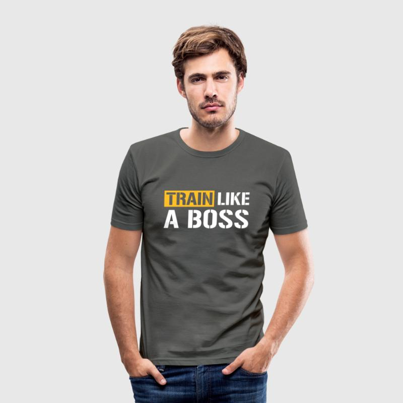 Train like a boss - Men's Slim Fit T-Shirt