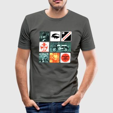 Simson Star Moped - Men's Slim Fit T-Shirt