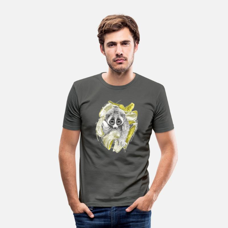 Collection T-shirts - Lori en plein régime - T-shirt moulant Homme gris graphite