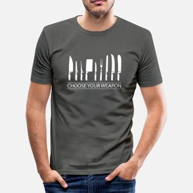 Cook Cooking knifes - Men's Slim Fit T-Shirt
