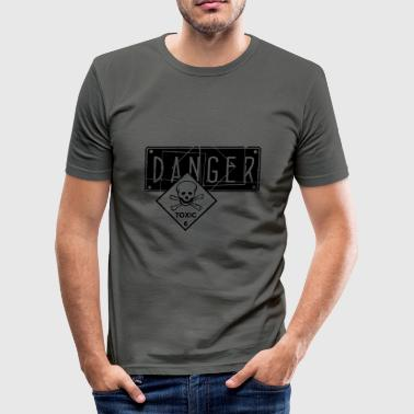 danger toxic_vec_2 de - Männer Slim Fit T-Shirt