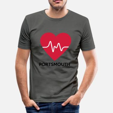 Portsmouth Heart Portsmouth - Men's Slim Fit T-Shirt