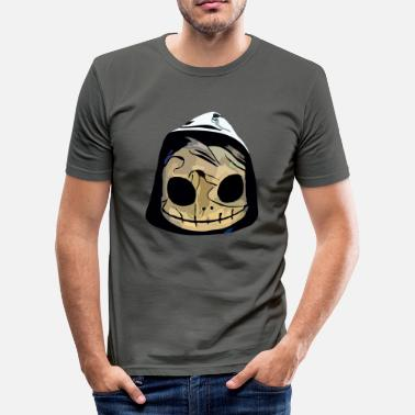 Deadhead Deadhead - skull with hood - Men's Slim Fit T-Shirt