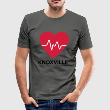 Herz Knoxville - Männer Slim Fit T-Shirt