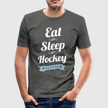 Eat Sleep Hockey Repeat - Men's Slim Fit T-Shirt