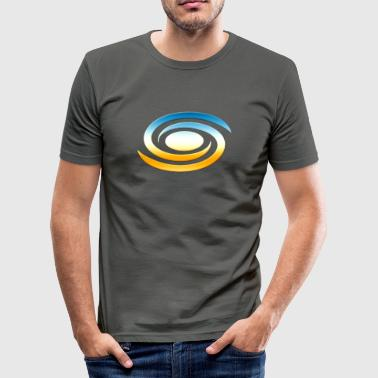 Spiral galaxy, universe, cosmos, milky way,  - Men's Slim Fit T-Shirt