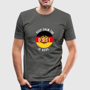 Stasi Keep calm the ossi is here - Men's Slim Fit T-Shirt