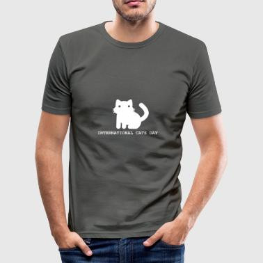 Wereld Internationale Internationale kattendag - slim fit T-shirt