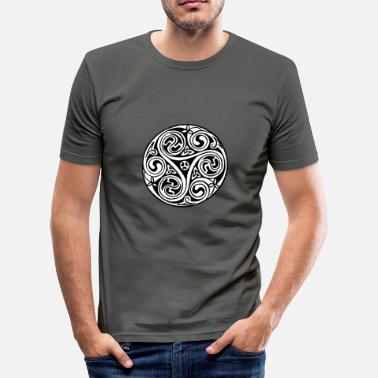 Book Of Kells Celtic Art Triskele - Book of Kells - Men's Slim Fit T-Shirt