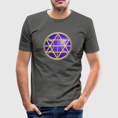 SEAL - GALACTIC FEDERATION OF LIGHT, digital, planet, alliance, star, nation, icon, symbol, symbols - Herre Slim Fit T-Shirt
