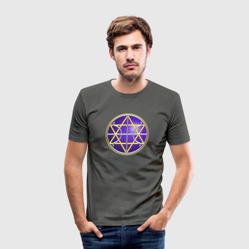 Ummac Dan - Galactic Federation Symbol For The Sirian Star System, digital - Men's Slim Fit T-Shirt