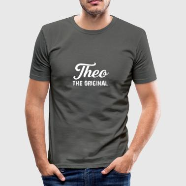 Theo Theo - Slim Fit T-skjorte for menn