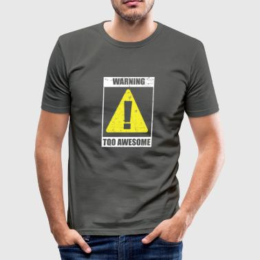 Warn warning - Men's Slim Fit T-Shirt