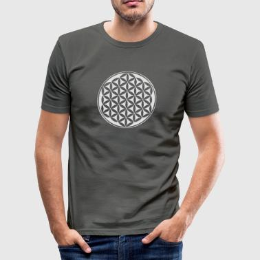 Kwiat życia - Flower of life - silver - sacred geometry - power of balancing and energizing, energy symbol - Obcisła koszulka męska