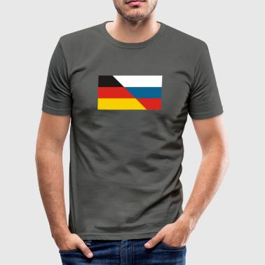 DE-RU FLAGGE - Männer Slim Fit T-Shirt