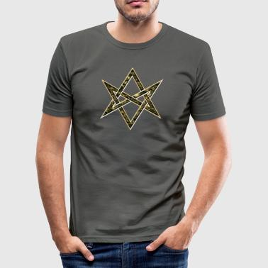 Unicursal Hexagram, Star, Kabbalah, Symbol - Men's Slim Fit T-Shirt