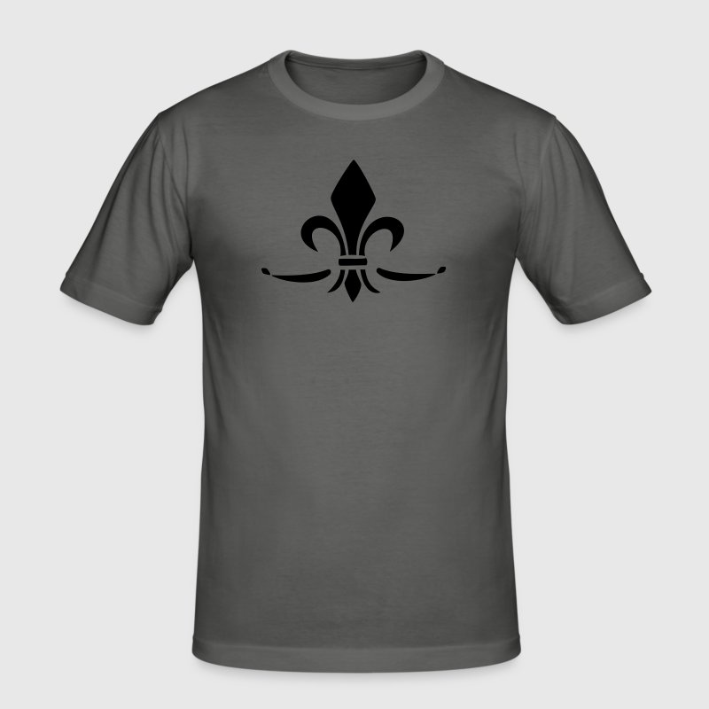 Fleur de Lis - Lily Flower, Trinity Symbol - Charity, Hope and Faith, c, 1 - Men's Slim Fit T-Shirt