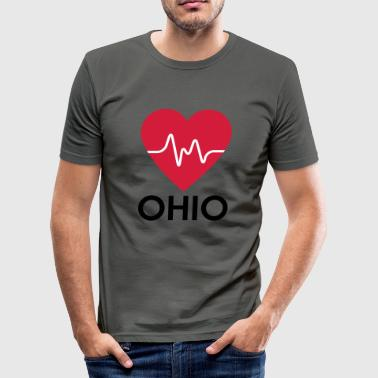 hjerte Ohio - Slim Fit T-skjorte for menn