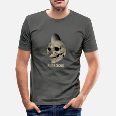 Skull Punk Punk Skull - Men's Slim Fit T-Shirt