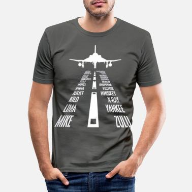 Phantom Fliegen F-4 Phantom Pilot Phonetisches Alphabet La - Männer Slim Fit T-Shirt