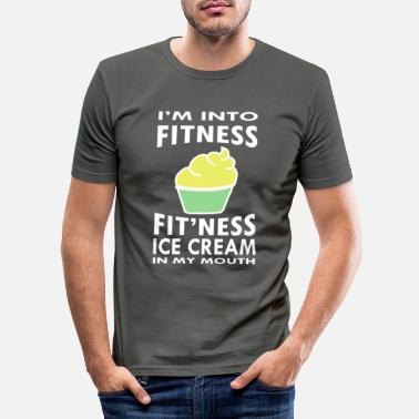 Oefening Fitness Gym Lovers Grappig ijs - Mannen slim fit T-shirt