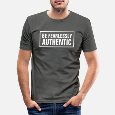 Word BE FEARLESSLY AUTHENTIC - Christian - Men's Slim Fit T-Shirt
