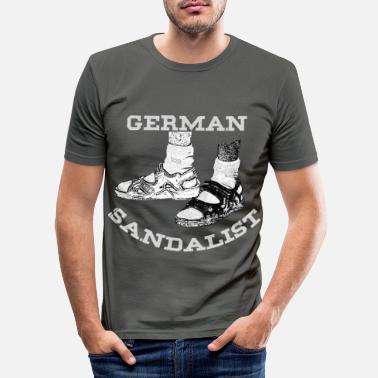 Sandal German sandalist, sandal holder, sandal, gift - Men's Slim Fit T-Shirt
