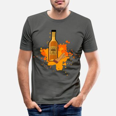 Whisky Cigar Cutter Smoker Aficionado Gift - Slim fit T-shirt mænd