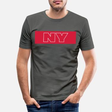 Ny NY - Men's Slim Fit T-Shirt