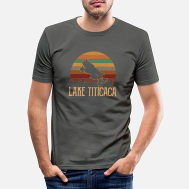 Lake Titicaca Lake titicaca, vintage lake titicaca - Men's Slim Fit T-Shirt