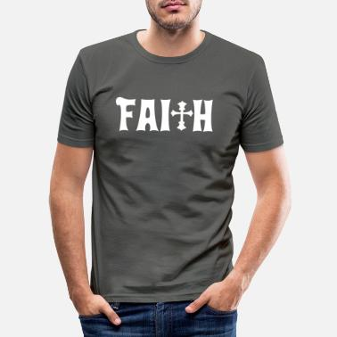 Bibel Faith Cross Christian Design Schach - Männer Slim Fit T-Shirt
