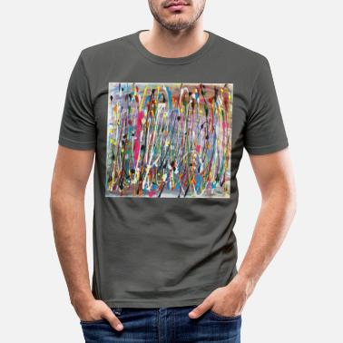 Colour Paint Splash Colour No Border - Men's Slim Fit T-Shirt