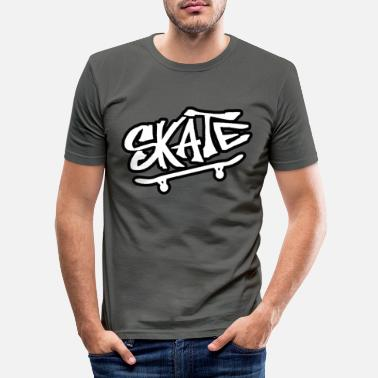 Skater Skate skate skate skate skater - T-shirt moulant Homme