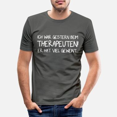 Therapeut Therapeut - Lustig - Vector Design - Männer Slim Fit T-Shirt