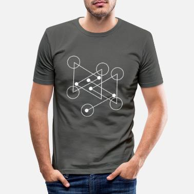 Yourself Geometric shapes - Men's Slim Fit T-Shirt