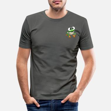 Frog Fimy the frog - Men's Slim Fit T-Shirt